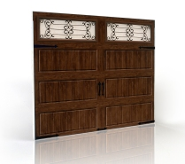 Clopay Adds Walnut Color To Gallery Collection Ultra-grain Finish Garage Doors