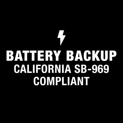 Battery Backup Califoria SB-969 Compliant