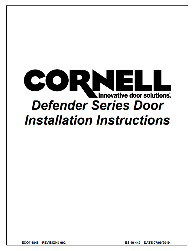 Cornell Install Cover