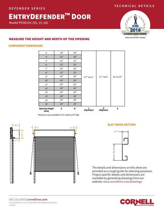 EntryDefender Technical Details Sheet Cover