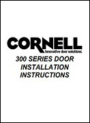 300 Series Door Install Manual Cover
