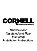 Rolling Door (Insulated and Non-Insulated) Install Manual Cover