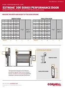 300 Series High Performance Door Technical Details Sheet Cover