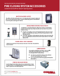 Fire Closing System Accessories Cover